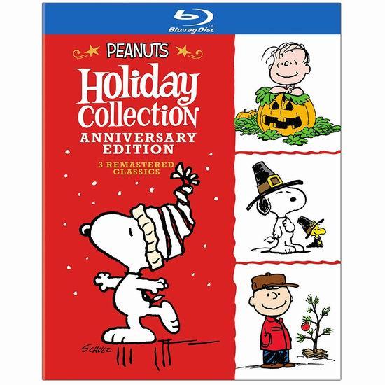 金盒头条:历史新低!《Peanuts Holiday Anniversary Collection 花生漫画 史努比节日精选合集》蓝光影碟版4.8折 24.99加元!