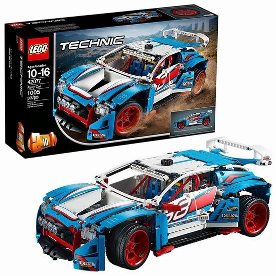 历史新低!LEGO 乐高 42077 机械组 二合一 拉力赛车(1005pcs)7.1折 99.99加元包邮!