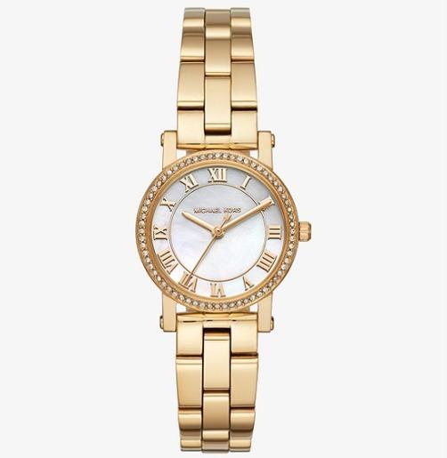历史新低!Michael Kors MK3682 镀金镶水钻 女式腕表/手表4.1折 118.78加元包邮!