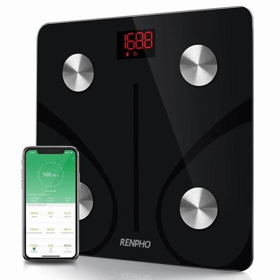 历史新低!RENPHO 智能蓝牙无线 体脂/体重秤4.6折 32.29加元!