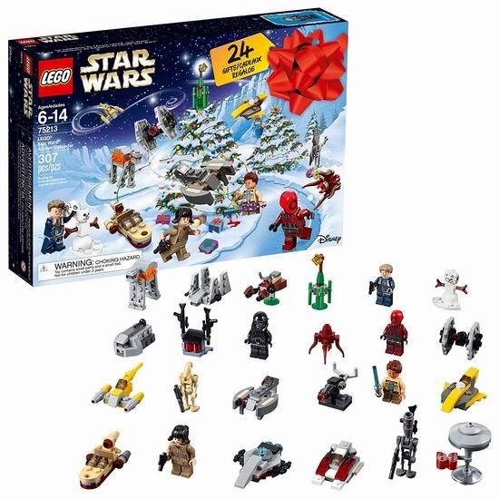 金盒头条:历史新低!LEGO 乐高 Star Wars 星球大战 75213 2018年圣诞倒数惊喜日历6折 29.99加元!