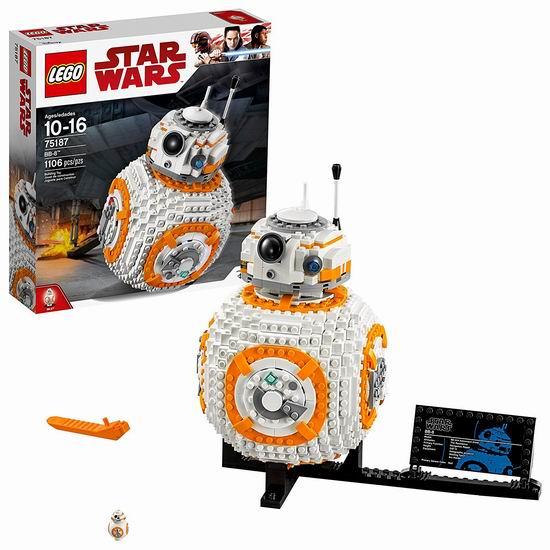 LEGO 乐高 75187 星球大战 BB-8机器人(1106pcs)6折 77.97加元包邮!