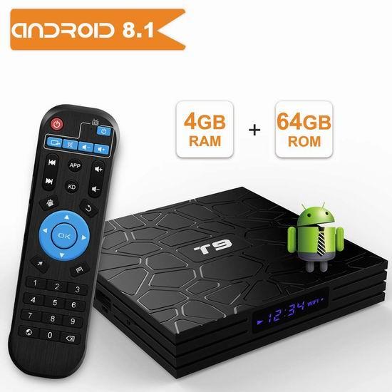 YAGALA T9 4K超高清 双频 高性能 网络电视机顶盒(4GB/64GB) 74.79加元限量特卖并包邮!