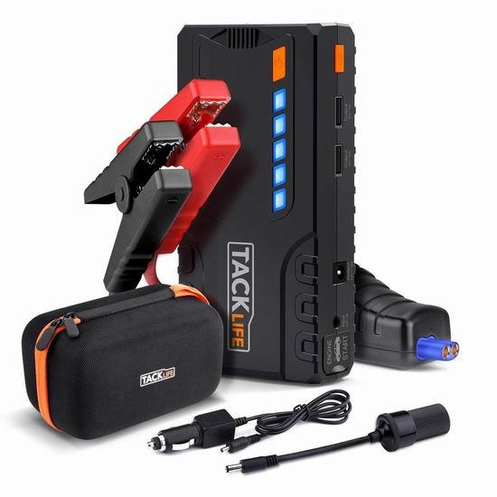 TACKLIFE 600A 16500mAh 便携式移动电源/充电宝/手电筒/汽车电瓶紧急启动电源 76.47加元限量特卖并包邮!