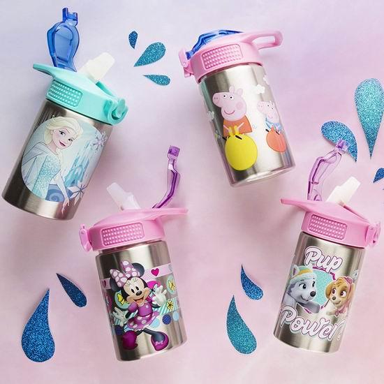 历史最低价!Zak Designs 小猪佩奇/冰雪奇缘15.5盎司不锈钢水杯5.3折 10.97加元!2款可选!