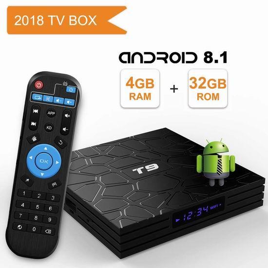 YAGALA T9 4K超高清 高性能 网络电视机顶盒(4GB/32GB) 73.94加元限量特卖并包邮!