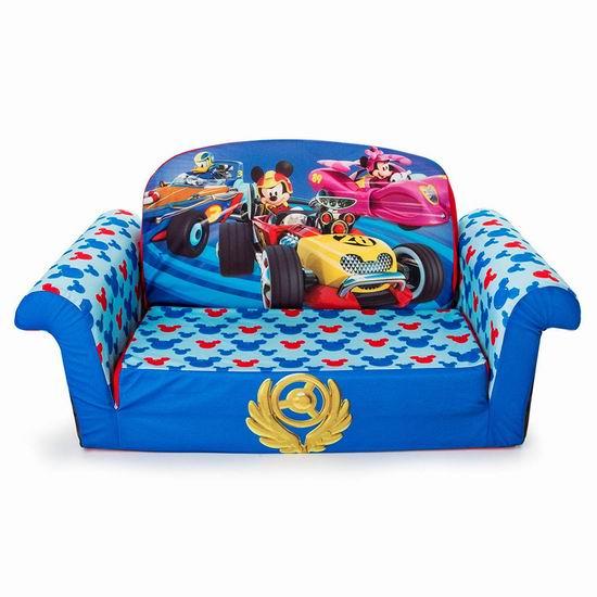 历史新低!Marshmallow 迪士尼米奇赛车 二合一儿童沙发3.8折 44.79加元包邮!