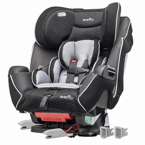 历史新低!Evenflo Symphony LX 三合一 成长型儿童汽车安全座椅5.5折 175.97加元包邮!