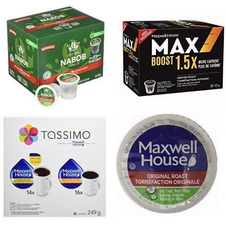 金盒头条:精选 Maxwell House、Nabob、MAX Boost 品牌K-Cup咖啡胶囊5.8折起!