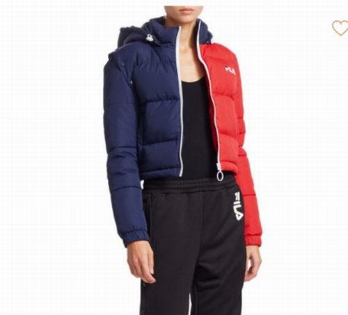 精选2款 FILA Mikayla Snap复古潮服 双色短款棉服 110加元,原价 150加元,包邮无关税!