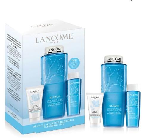 Lancôme 兰蔻 清滢眼部卸妆水475ml超值套装  72加元,原价 80加元(价值 117加元)