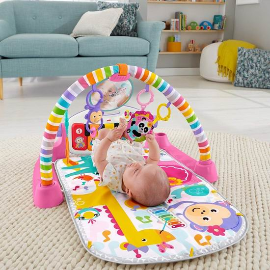 Fisher-Price 费雪 Kick n Play 豪华婴幼儿小钢琴 爬行毯/游戏垫6.8折 42.83加元包邮!