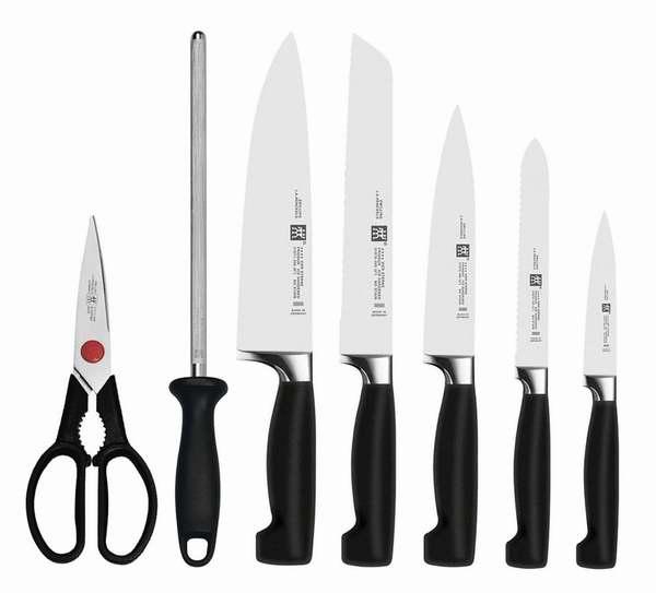 补货速抢!Zwilling J.A Henckels 双立人 四星系列厨房刀具8件套2.2折 212.49加元包邮!超值送8把牛排刀!