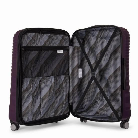 英国 IT Luggage EOS 全PC 超轻硬壳 时尚拉杆行李箱3件套(20/24/28寸)2.4折 159.99加元包邮!2色可选!
