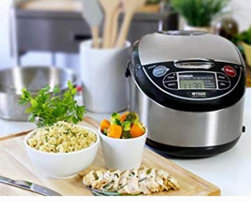 历史最低价!Tiger Corporation JAX-T10U 5.5杯电饭煲带Tacook 烹调盘 219.98加元,原价 269.88加元,包邮