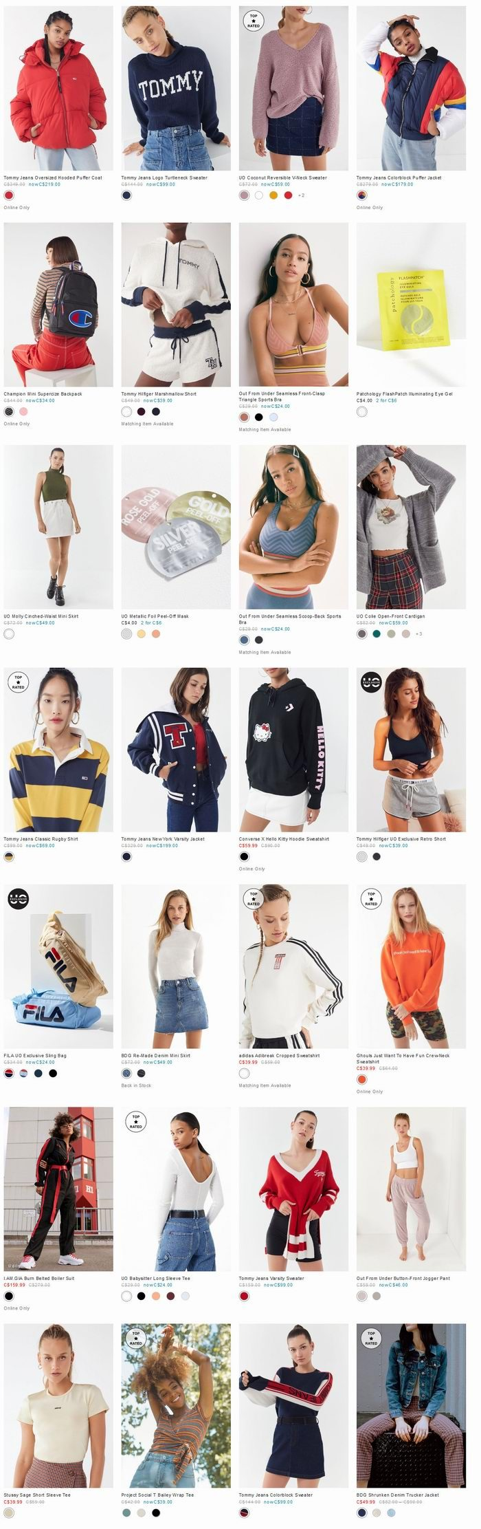 Urban Outfitters 精选I am Gia、Hello Kitty、Champion等品牌