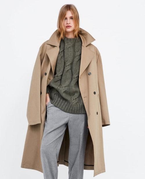 Zara网购星期一:精选男女大衣、毛衣、风衣 5折起优惠!