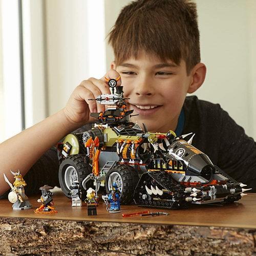 历史新低!LEGO 乐高 70654 幻影忍者 重型捕龙卡车(1179pcs)6.8折 94.99加元包邮!