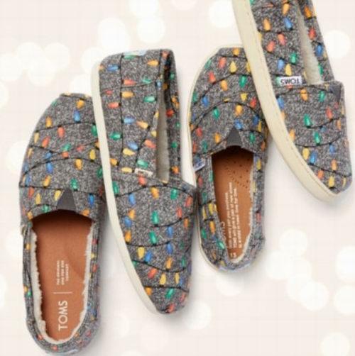 双11特惠!Toms 上脚超舒适 印花帆布鞋 6折起+额外7.5折!