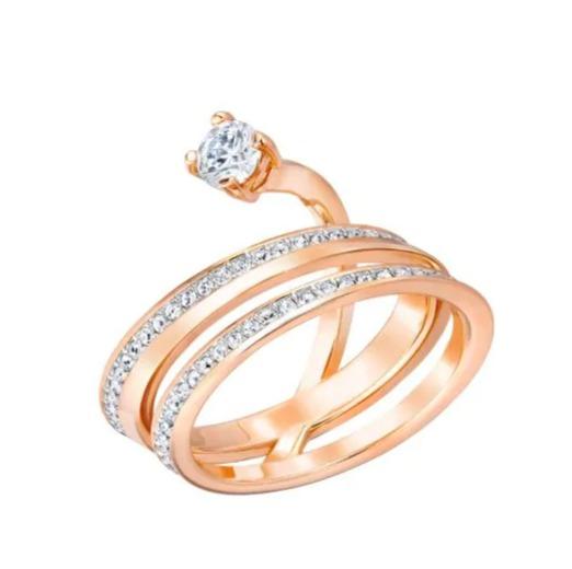 Swarovski 施华洛世奇Fresh Crystal玫瑰金戒指 101.4加元,原价 169加元,包邮