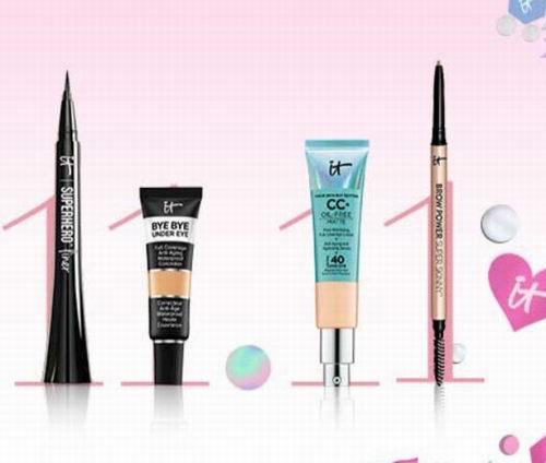 双11特惠!it Cosmetics 精选彩妆护肤4折起特卖,入CC霜、眼部遮瑕、化妆刷