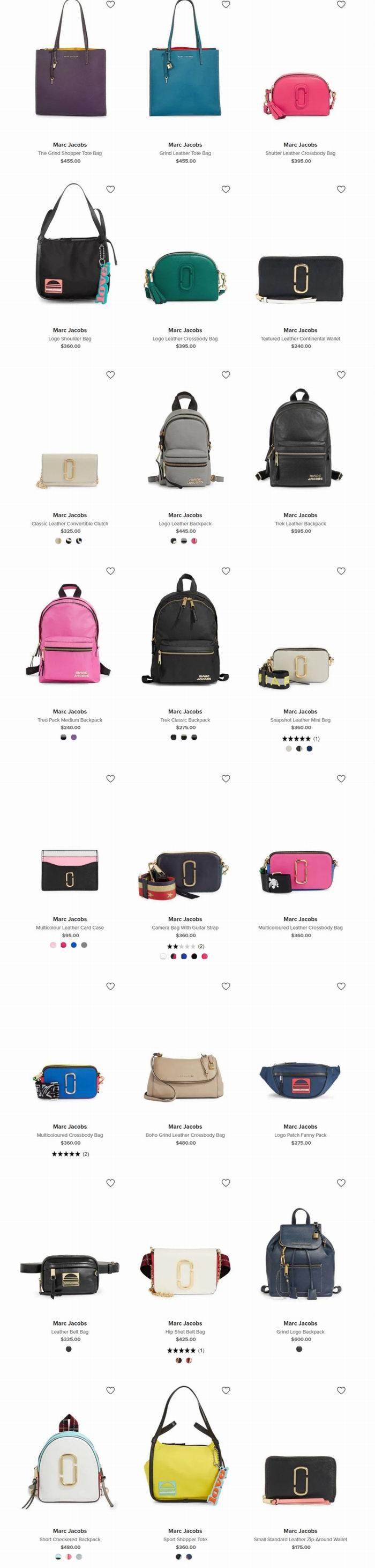 补货了!火得没朋友!精选 Marc Jacobs 时尚美包、相机包、背包等4折起+额外7.5折!