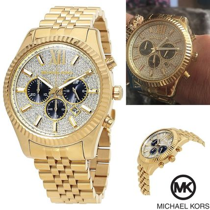 手慢无!历史新低!Michael Kors MK8494 Lexington 三眼计时 水晶表盘 金色时尚腕表/手表3.4折 157.52加元包邮!