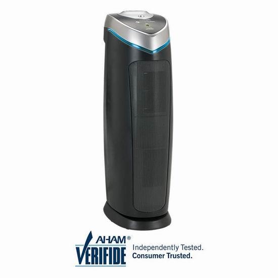 GermGuardian AC4825 AC5000E 22英寸 医疗紫外线消毒除臭 HEPA 三合一立式空气净化器 97.74加元包邮!