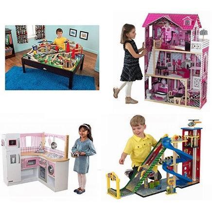 历史新低!精选20款 KidKraft 玩具娃娃屋、儿童仿真厨房、火车玩具桌、书架、梳妆台等6折起+额外8.5折优惠!