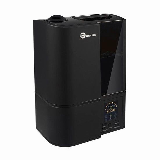 TaoTronics TT-AH001B 4升大容量 零噪音超声波冷雾加湿器 49.59加元限量特卖并包邮!