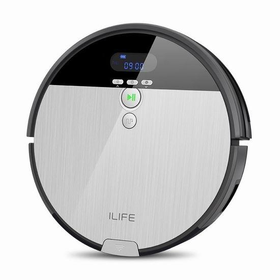 近史低价!ILIFE 智意 V8s 智能扫地/拖地 两用机器人 239.99加元包邮!