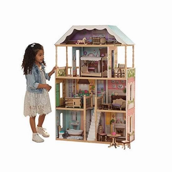 黑五价再降36加元!KidKraft Charlotte 大型玩具娃娃屋4.2折 84.13加元包邮!仅限今日!