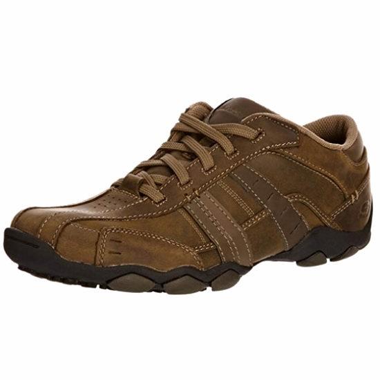 历史新低!Skechers DIAMETER 男式真皮休闲鞋4.3折 44.91加元包邮!码齐!