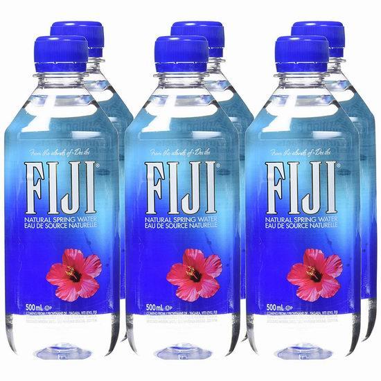 折扣升级!历史新低!Fiji Water 斐泉 斐济纯天然深层 自流矿泉水(500毫升x6瓶) 5.57加元!