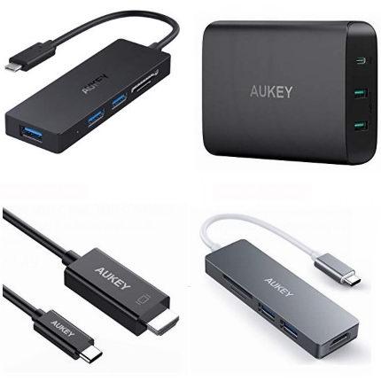 金盒头条:精选多款 AUKEY USB集线器、USB充电器、HDMI切换器、USB C数据线、USB-C转HDMI数据线6.2折起!