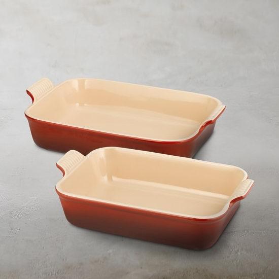 Le Creuset 彩色珐琅陶瓷烤盘2件套3.8折 84.99加元!5色可选!