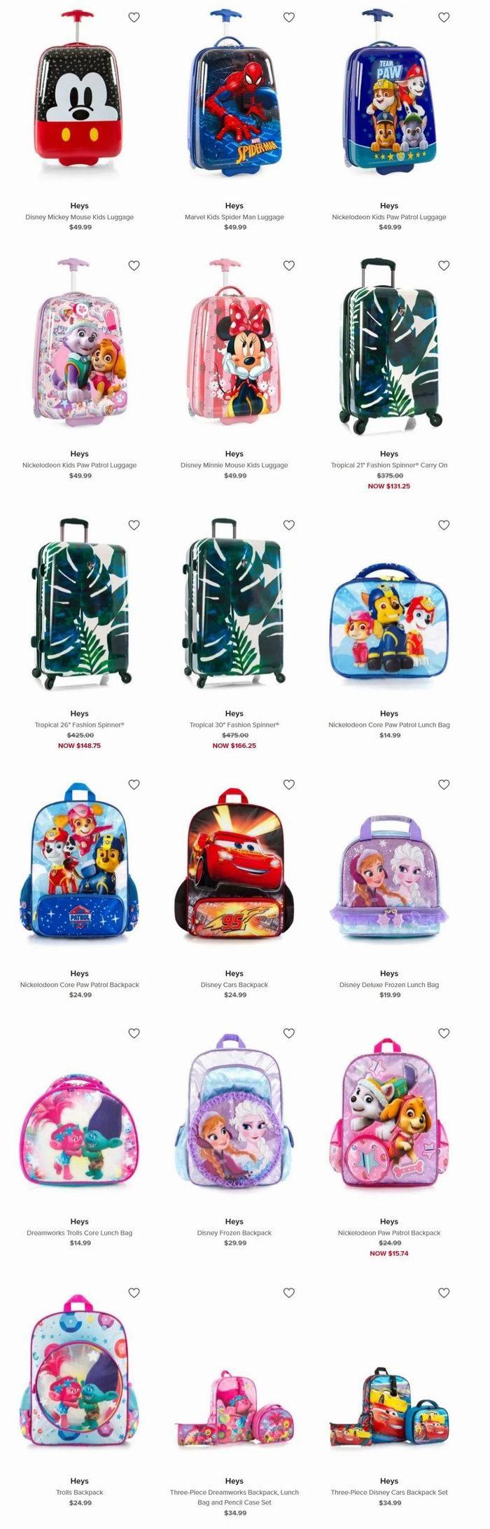 精选Heys儿童拉杆行李箱、书包、午餐包 7.5折优惠,折后低至 11.25加元!