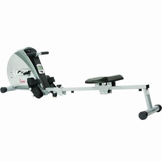 黑五专享:历史新低!Sunny Health & Fitness SF-RW5606 家用磁阻划船机/划艇机5.6折 148加元包邮!