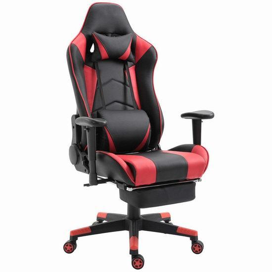Honorax 人体工学 高靠背赛车办公椅/游戏椅 151.96-175.99加元限量特卖并包邮!多色可选!