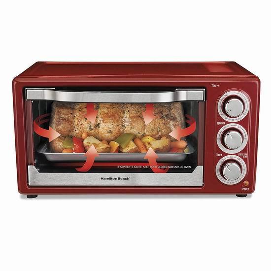 黑五专享:历史新低!Hamilton-Beach 31514C 6 Slice 对流烘焙烤箱5.5折 49.88加元包邮!
