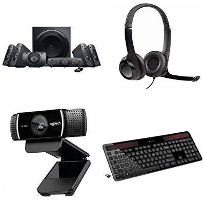 精选 Logitech 罗技 音箱、键盘、网络摄像头、耳机、无线演示器等7折起!
