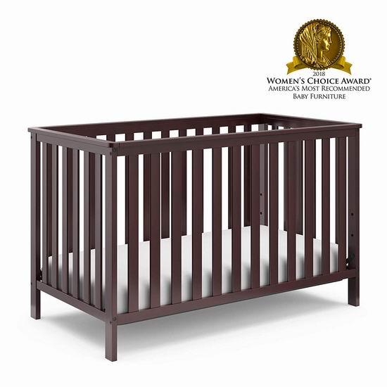 历史新低!Storkcraft Rosland 咖啡色 三合一多功能成长型婴儿床 149.99加元包邮!