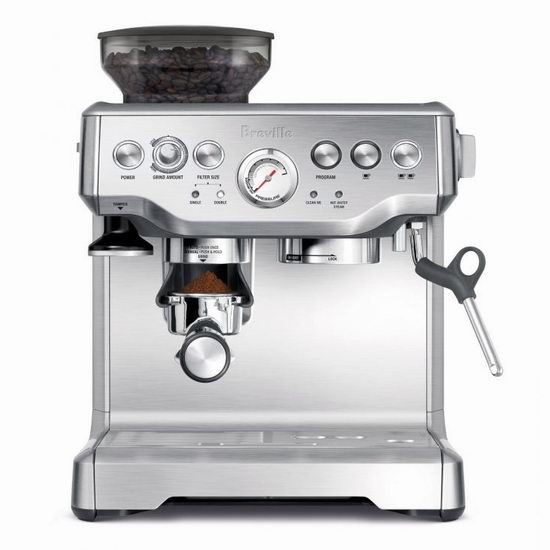 Breville 铂富 BES870XL 意式浓缩带磨豆功能一体式咖啡机 587.99加元包邮!