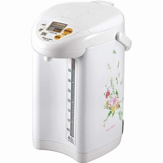 历史新低!ZOJI 象印 CD-JWC40FZ Micom 4升量 白色微电脑保温 智能热水瓶 206.6加元包邮!