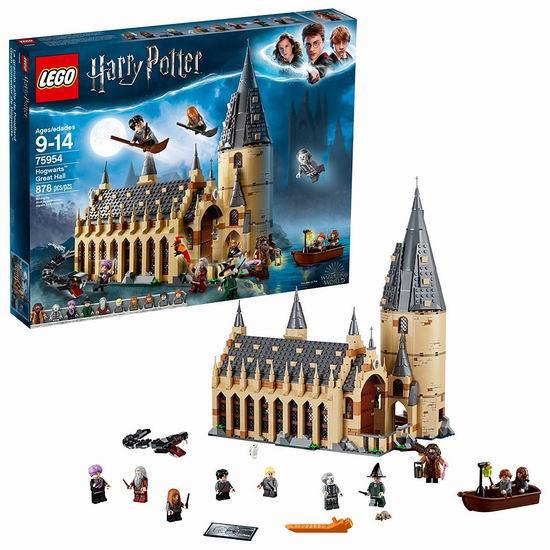 爆款新品:LEGO 乐高 75954 哈利波特 霍格沃茨大礼堂(878pcs) 110.47加元包邮!