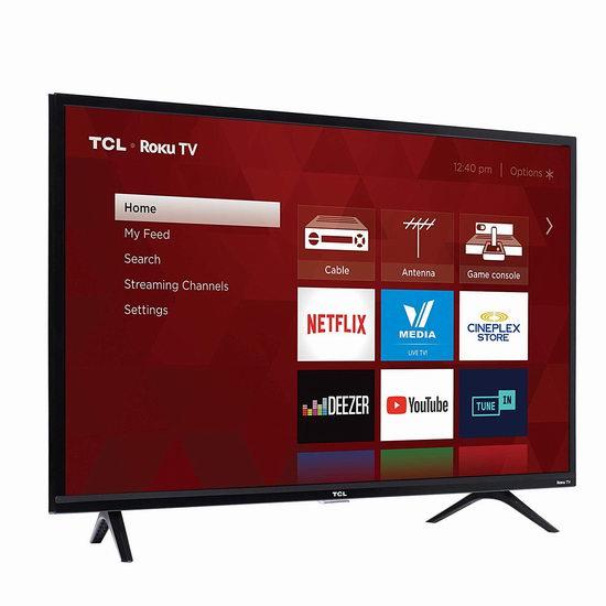 历史新低!2019版 TCL 32S325-CA 720p 32英寸智能电视 149.99加元包邮!会员专享!
