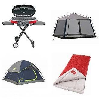 黑五专享:精选多款 Coleman 露营帐篷、遮阳棚、燃气烧烤炉、救生衣、睡袋等4.1折起!