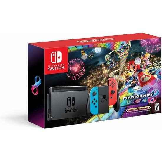 黑五专享:Nintendo 任天堂 Switch 便携式游戏机+《Mario Kart 8》套装 379.99加元包邮!