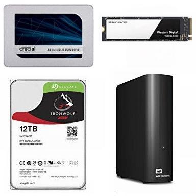 黑五专享:精选 Crucial、WD、SanDisk、Toshiba 等品牌固态硬盘、移动硬盘、台式机硬盘、卡式固态硬盘5.8折起!