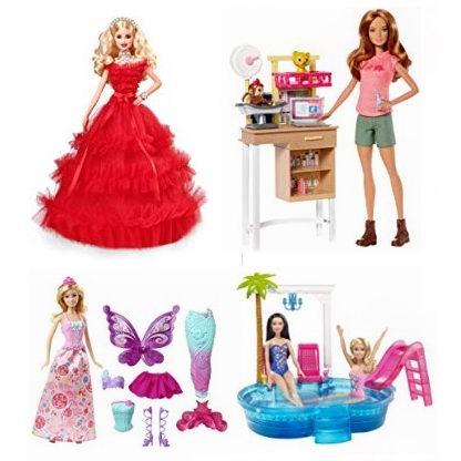 黑五专享:精选 Barbie、Disney、Littlest Pet 等品牌芭比娃娃、玩偶及玩具套装3.7折起!低至3.75加元!